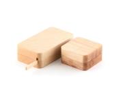 木のバターケース